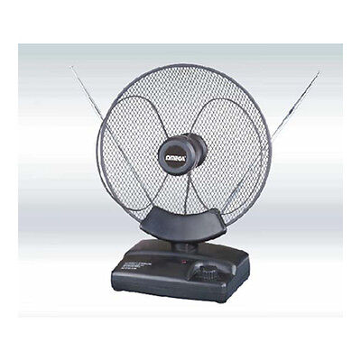Omega 24466 Indoor TV UHF/VHF/FM Rotating Amplified Antenna