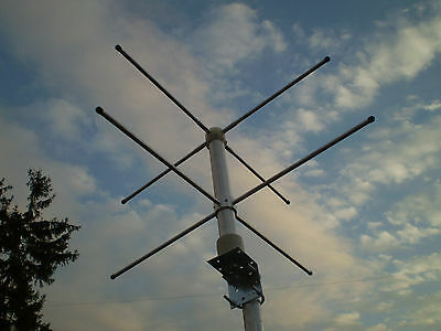 Base antenna turnstile crossed dipole RHCP 255Mhz