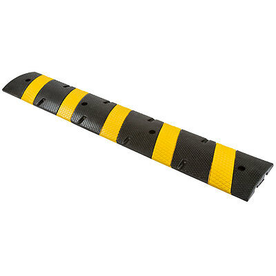 6 ft. Rubber Modular Vehicle Traffic Control Speed Bump Middle Section DH-SP-26M