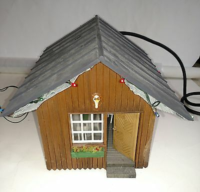 G Scale Hand Crafted Lighted Cabin (Pre Owned)