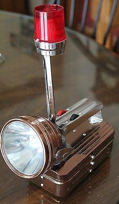 Vintage Hand Lantern with Warning Blinker -  Uses 4 Single Cell Battery