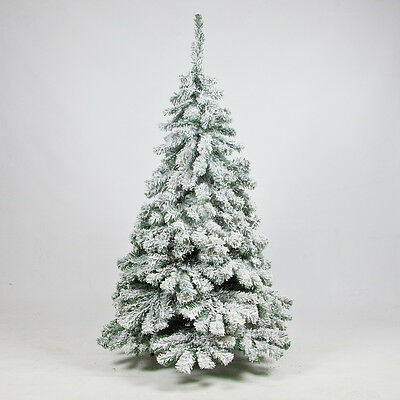 5Ft 1.5M Indoor Snow Covered Flocked Downswept Artificial Christmas Xmas Tree
