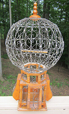Victorian Dome Birdcage Wire and Wood