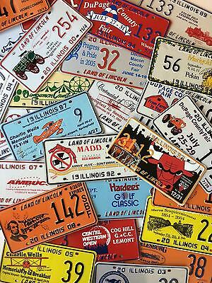 Vintage License Plates Lot of 50 Different Illinois Special Event Tag Car 3112