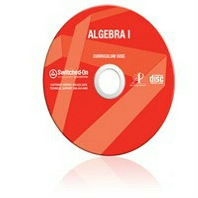 9th Grade SOS Math Algebra 1 Homeschool Curriculum CD Switched on Schoolhouse 9