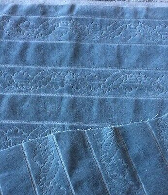 Vintage Velvet Lot Salvage Steel Blue Fabric Material Shabby Crazy Quilts