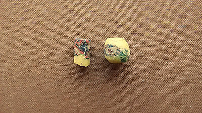 Ancient Roman glass beads with eyes, 1800 years old 6-10mm