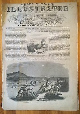 Frank Leslies Illustrated Newspaper November 14 1857 Turtle Fishing Railroads