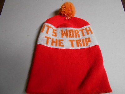 "Vintage Dunkin Donuts ""It's Worth The Trip"" Fleece Hat - RARE"