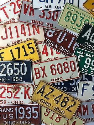 Ohio Vintage License Plate Garage Lot of 20 Rustic Decor Old Car Tags Man Cave