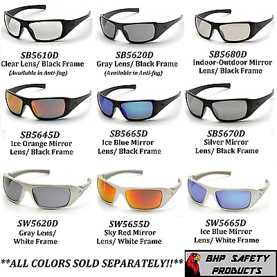 Pyramex Goliath Safety Glasses Motorcycle Sport Work Sunglasses Z87.1+ (1 Pair)