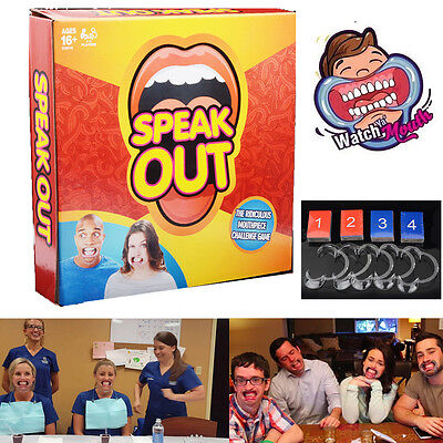 Funny Speak Out Board Party Game Mouthguard Challenge Game Xmas Gift 4-5 Players