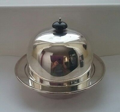 Antique Silver plate butter dish Adie Brothers c.1910