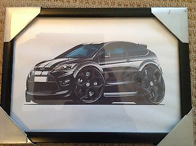 Ford Focus ST Framed A4 Printed Picture