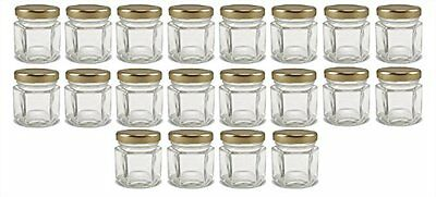 Cornucopia Brands Mini Hexagon Glass Jars 1.5oz Pack of 24