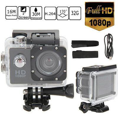 """2"""" HD 1080P 12MP Waterproof Sports Action Camera Video DV Camcorder for Gopro"""