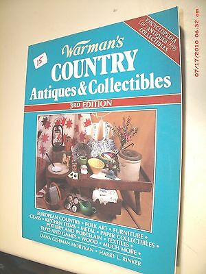 Warman's County Antiques & Collectibles By Morykan & Rinker 3Rd. Ed. 1996