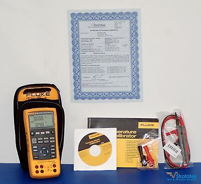 Fluke 724 Temperature Calibrator - NIST Calibrated with extras + Warranty