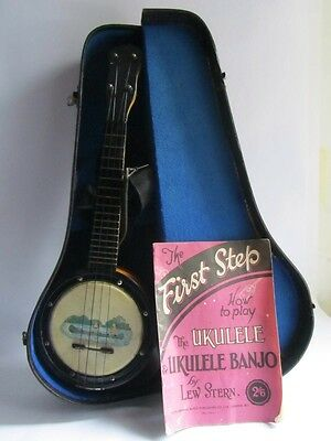 Vintage Banjolele With  Free Uk Mainland Postage
