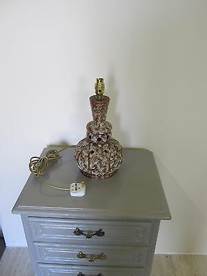 SOLID PORCELAIN 1970s RETRO VINTAGE QUALITY SIDE TABLE LAMP Rewired