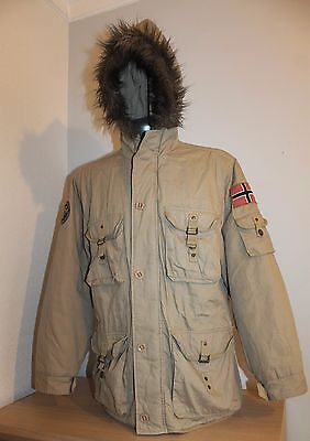 Mens NANGAPARBAT Jacket Parka NoRWAY Brown Safari Winter Mountain Size L