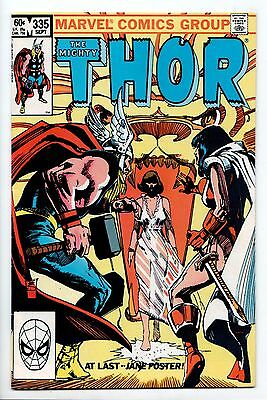 Thor #335 - Runequest's End! (Marvel, 1983) - FN-