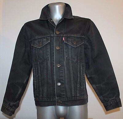Mens LEVIS Strauss Jacket Vintage Denim Black Red Label Size S