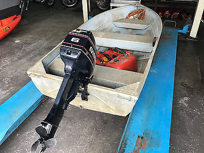 """10"""" Tinny with 6hp outboard motor"""