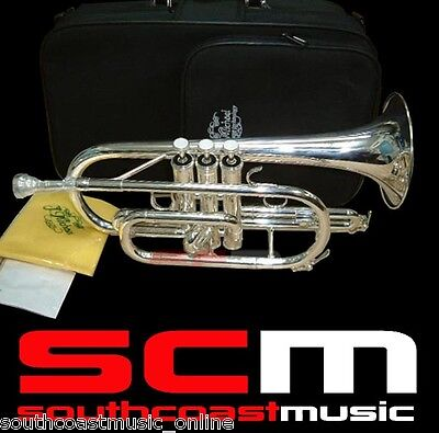 SILVER PLATED Bb CORNET J MICHAEL CT470S WITH CASE 2 YEAR WARRANTY SUPERB TONE!