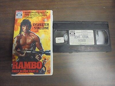 "~USED VHS Movie~ ""RAMBO First Boold Part II"""