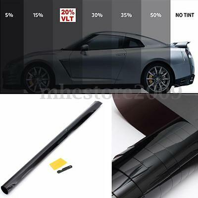 5%-50% Black Window Glass Tint Kit Film Roll Auto Car House Office Glass Shade