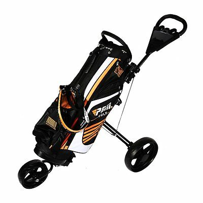 Greenway 3 Wheel Trolley Golf Cart Steering Front Wheel Push/Pull Golf Trolley