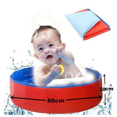 Portable Kids Bath Tub Folding Pet Bath Swimming Pool Tub Bathtube Washer 80x20