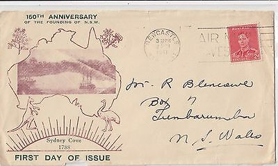 Stamp Australia 2d red KGV1 variety extend top right corner on Campe cachet FDC