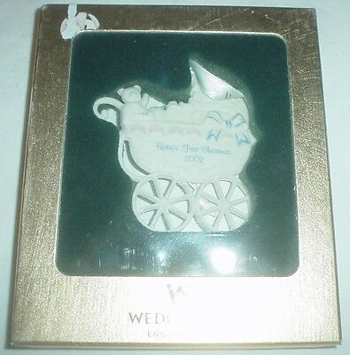 Vintage Wedgwood 2002 Baby's First Christmas Tree Ornament