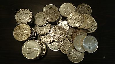 One Canada Junk 50 cent silver coin. 80 % Silver. One coin