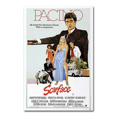 Al Pacino Scarface Classic Movie Art Silk Poster 12x18 24x36 inch