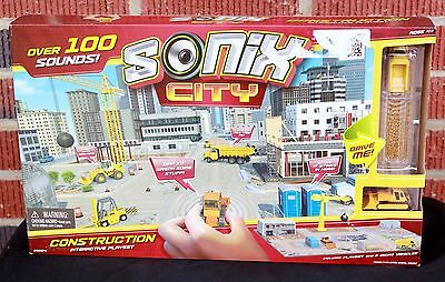Sonix City Construction Interactive New Toy Playset 2 Micro Vehicles 100 Sounds
