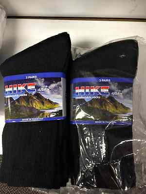 Bulk Lot of 300 Pairs Mens Black Crew Socks FREE SHIPPING!!! sz 9-11