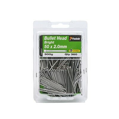 Paslode 50 x 2.0mm 500g Bright Steel Bullet Head Nails - 360 Pack