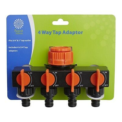 Aqua Systems 4 Way Tap Adaptor Outlet