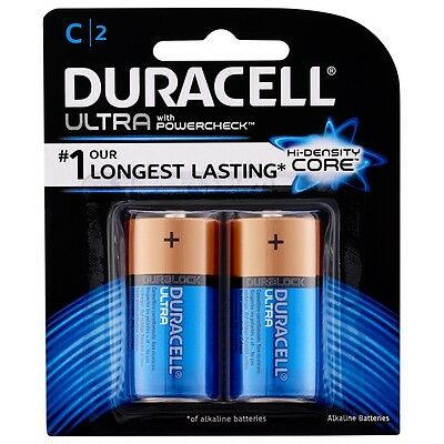 Duracell Ultra C Battery - 2 Pack
