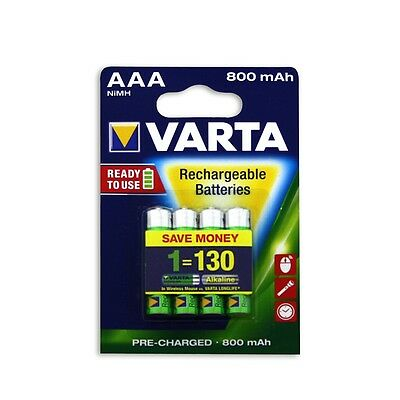 Varta AAA Rechargeable Batteries - 4 Pack