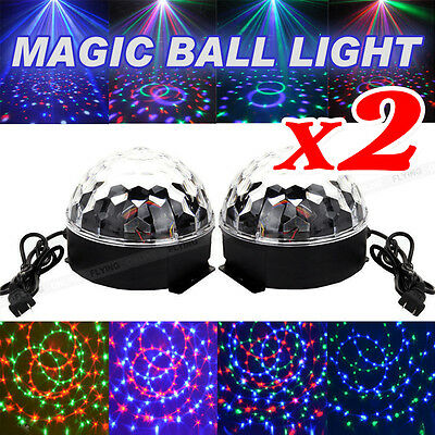 AU X2 Effect DJ Light LED Stage Lighting Laser Crystal Magic Ball Disco Party