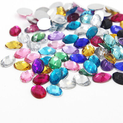 100PCS Rhinestones Resin Loose Flatback Costume Clothing Bag Hat Decoration DIY