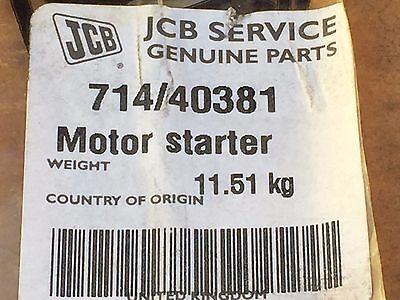 JCB Part Genuine Starter Motor 714/40381,3957589