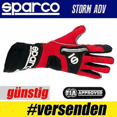 FIA SPARCO Handschuh STORM ADV, Rot, Professionelle Handschuhe  HIT TOP