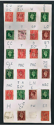 Old Great Britain PERFINS Collection