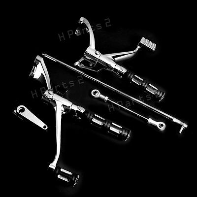Chrome Forward Controls Edge Cut FootPegs Levers Linkages For Harley Sportster