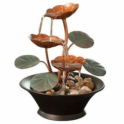 Bits and Pieces- Indoor Water Lily Fountain-Perfect Tabletop Decoration,CXID,CXX